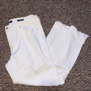 Kaari Blue | White Denim Jeans